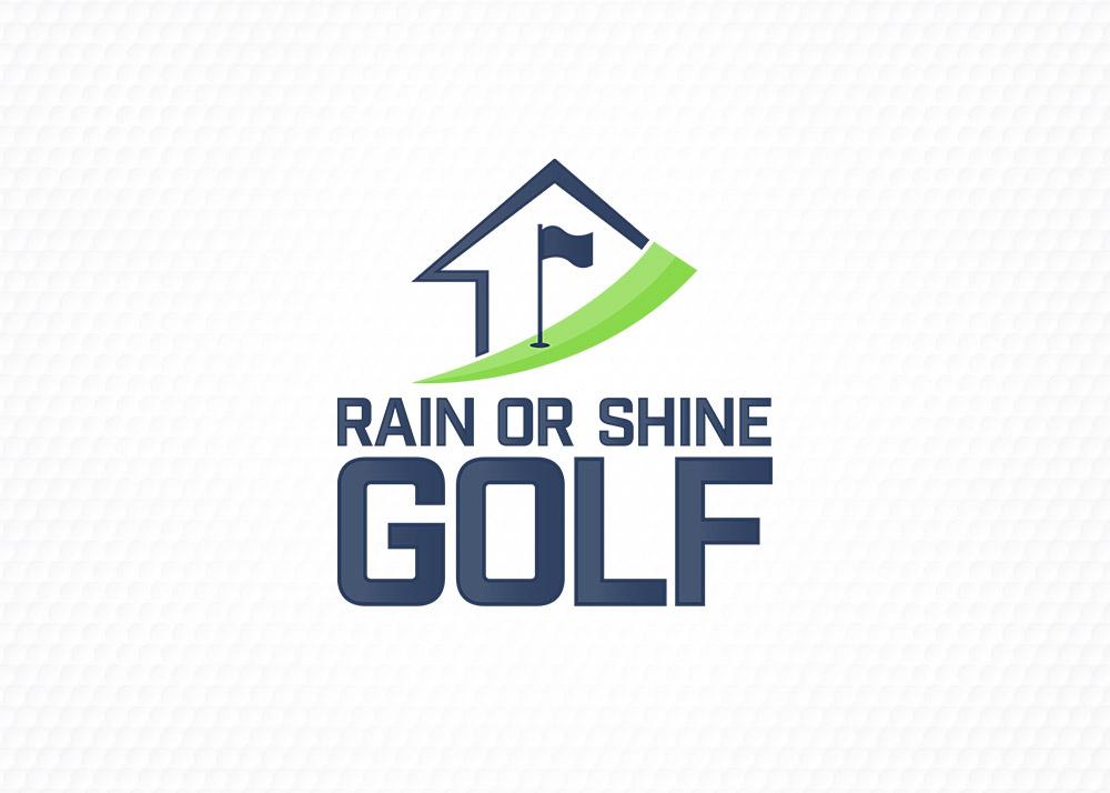 Rain or shine golf logo